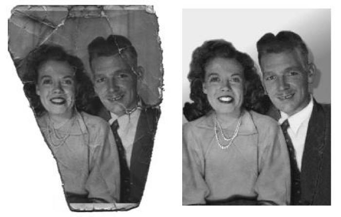 Photo Restoration of husband and wife